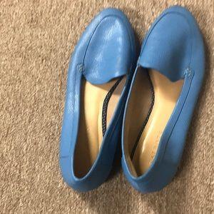 Blue loaffers